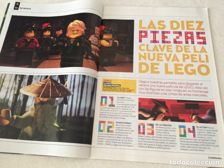 Cine: REVISTA CINERAMA SEPTIEMBRE 2017 PORTADA DESPLEGABLE NINJAGO LA LEGO PELICULA TOM CRUISE - Foto 4 - 172853947