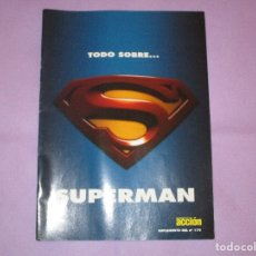 Cine: TODO SOBRE ... SUPERMAN - SUPLEMENTO DEL Nº 170 - CINE Y VIDEO ACCION. Lote 172951953