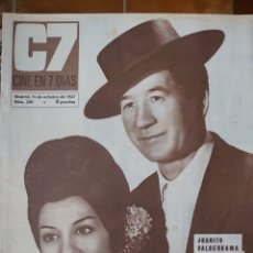 Cine: JUANITO VALDERRAMA Y DOLORES ABRIL REVISTA CINE EN 7 DÍAS AÑO 1967. Lote 173160753