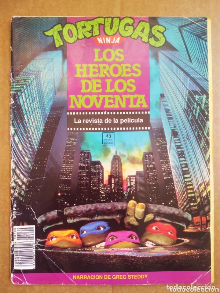 TORTUGAS NINJA: LOS HÉROES DE LOS NOVENTA / LA REVISTA DE LA PELÍCULA (EDICIONES ZINCO, 1990). (Cine - Revistas - Otros)