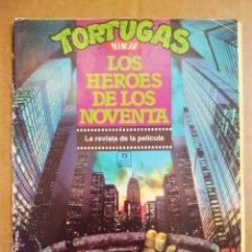 Cine: TORTUGAS NINJA: LOS HÉROES DE LOS NOVENTA / LA REVISTA DE LA PELÍCULA (EDICIONES ZINCO, 1990).. Lote 173369025