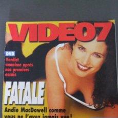Cine: VIDEO 7 Nº 178-ANDIE MACDOWELL. Lote 173408048