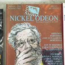 Cine: REVISTA NICKEL ODEON, CINE 3 A 33, GARCIA BERLANGA, SCREWBALL, FILM NOIR, WELLES, WESTERN, CINEFILIA. Lote 173581847