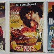 Cine: ROCK HUDSON. 3 REPRODUCCIONES EN FOTO 12,5 X 17,5 CMS... Lote 173917177