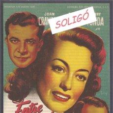 Cine: ENTRE EL AMOR Y EL PECADO DISEÑO SOLIGÓ. Lote 173968065