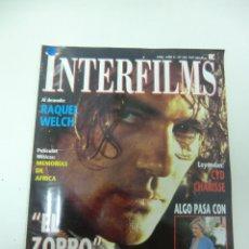 Cine: REVISTA DE CINE INTERFILMS ANTONIO BANDERAS EL ZORRO Nº 122 AÑO 1998 8 CARTELERAS CINE DE MANO. Lote 174011748
