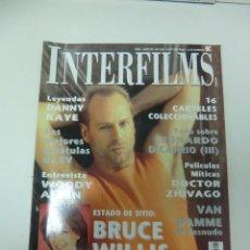 Cine: REVISTA DE CINE INTERFILMS BRUCE WILLIS DURO DE PELAR Nº 125 AÑO 1999 12 CARTELERAS CINE DE MANO. Lote 174012255
