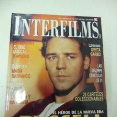 Cine: REVISTA DE CINE INTERFILMS RUSSELL CROWE Nº 149 AÑO 2001 20 CARTELERAS CINE DE MANO. Lote 174014350