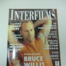 Cine: REVISTA CINE INTERFILMS BRUCE WILLIS Nº 125 AÑO 1999 16 CATELERAS CINE DE MANO. Lote 174020697