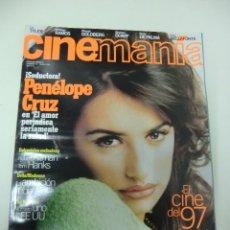 Cine: REVISTA DE CINE CINEMANIA PENÉLOPE CRUZ Nº16 AÑO 1997. Lote 174029117