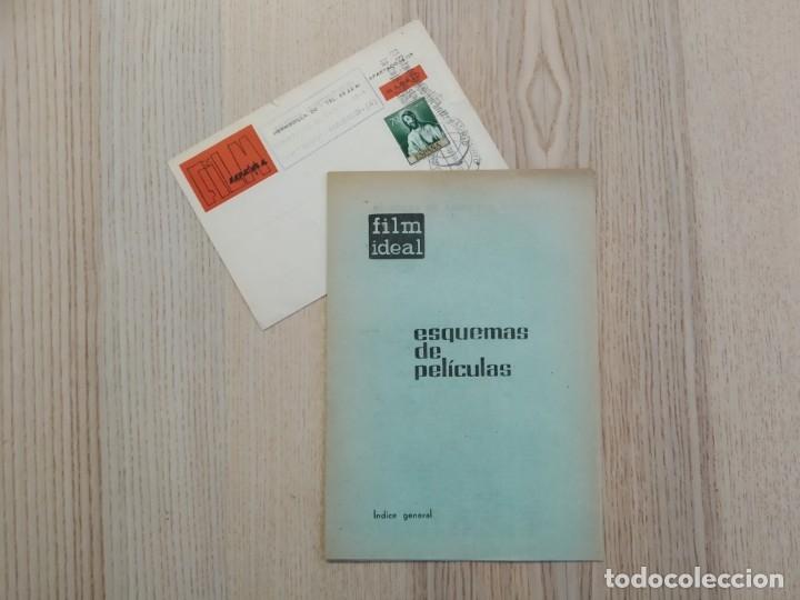 INDICE GENERAL ESQUEMAS DE PELÍCULAS (1 - 166. FILM IDEAL) + NOTA POSTAL FRANCISCO GALLARDO. (Cine - Revistas - Film Ideal)