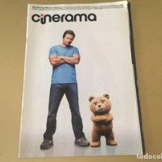 Cine: CINERAMA 2015 PORTADA DESPLEGABLE TED 2 LOS MINIONS DEL REVES ANT-MAN CARA DELEVINGNE NAT WOLFF 007. Lote 174066700
