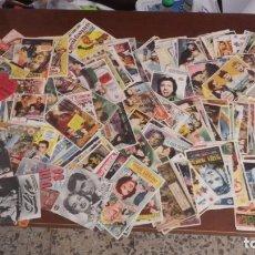 Cinema: LOTE DE 285 FOLLETOS DE MANO. AÑOS 40-50-60. CINES Y PUBLICIDAD DE MÁLAGA. 37 FOLLETOS DOBLES.. Lote 174255238