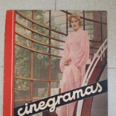 Cine: REVISTA CINEGRAMAS, MADELEINE CARROLL. Nº 34, 5 DE MAYO DE 1935.. Lote 174283309