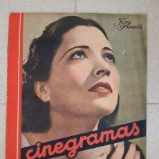 Cine: REVISTA CINEGRAMAS, KAY FRANCIS. Nº 32, 21 DE ABRIL DE 1935.. Lote 174283948