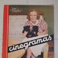 Cine: REVISTA CINEGRAMAS, JOAN CRAWFORD. Nº 29, 31 DE MARZO DE 1935.. Lote 174307672
