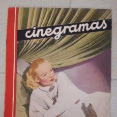 Cine: REVISTA CINEGRAMAS, CAROLE LOMBARD. Nº 26, 10 DE MARZO DE 1935.. Lote 174308148