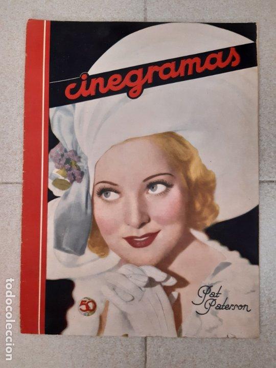 REVISTA CINEGRAMAS, PAT PATERSON. Nº 27 DE ENERO DE 1935. (Cine - Revistas - Cinegramas)