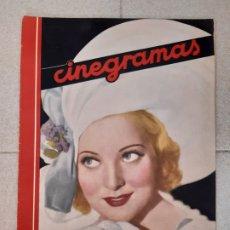 Cine: REVISTA CINEGRAMAS, PAT PATERSON. Nº 27 DE ENERO DE 1935.. Lote 174309107