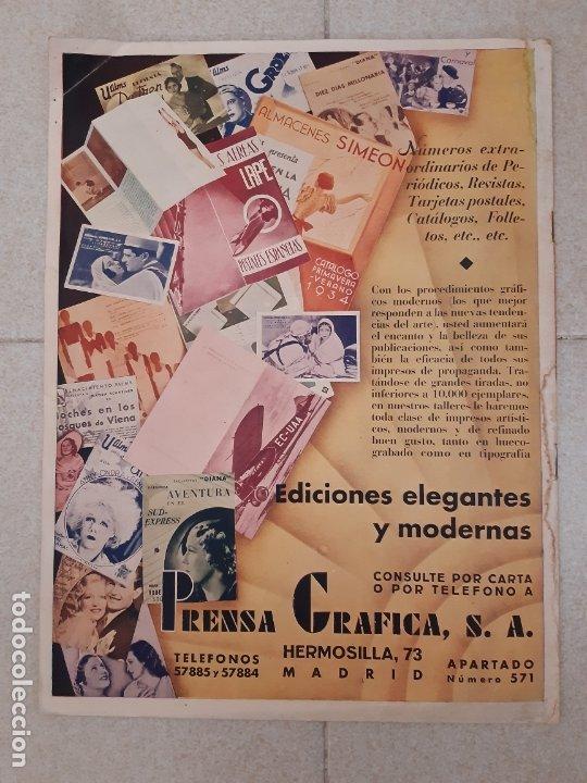 Cine: REVISTA CINEGRAMAS, ELISSA LANDI. Nº 14, 16 DE DICIEMBRE DE 1934. - Foto 2 - 174313052
