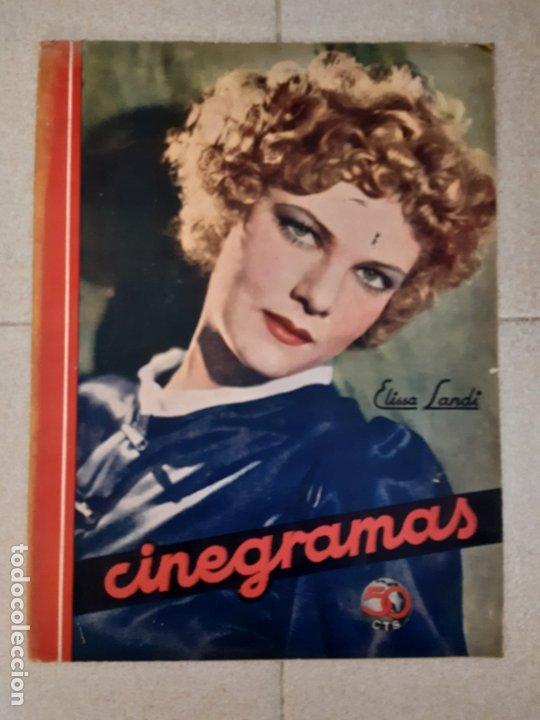 REVISTA CINEGRAMAS, ELISSA LANDI. Nº 14, 16 DE DICIEMBRE DE 1934. (Cine - Revistas - Cinegramas)