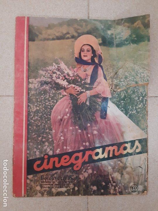 REVISTA CINEGRAMAS, DOLORES DEL RIO. AÑO I, Nº 1 (1934). (Cine - Revistas - Cinegramas)