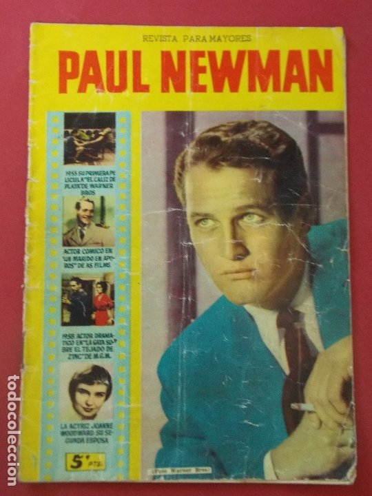 PAUL NEWMAN - REVISTA PARA MAYORES - COLECCION CINECOLOR - 17X24 CM... L307 (Cine - Revistas - Cinecolor)