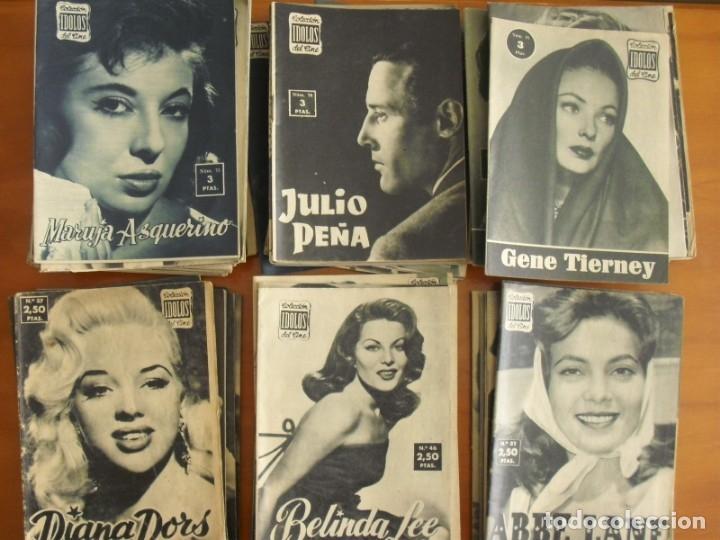 LOTE DE 70 REVISTAS-TODAS DISTINTAS DE LA COLECCION IDOLOS DEL CINE AÑO 1958 -VER FOTOS (Cine - Revistas - Colección ídolos del cine)