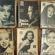 Cine: LOTE DE 70 REVISTAS-TODAS DISTINTAS DE LA COLECCION IDOLOS DEL CINE AÑO 1958 -VER FOTOS. Lote 175411215