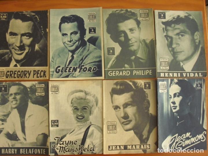 Cine: LOTE DE 70 REVISTAS-TODAS DISTINTAS DE LA COLECCION IDOLOS DEL CINE AÑO 1958 -VER FOTOS - Foto 5 - 175411215