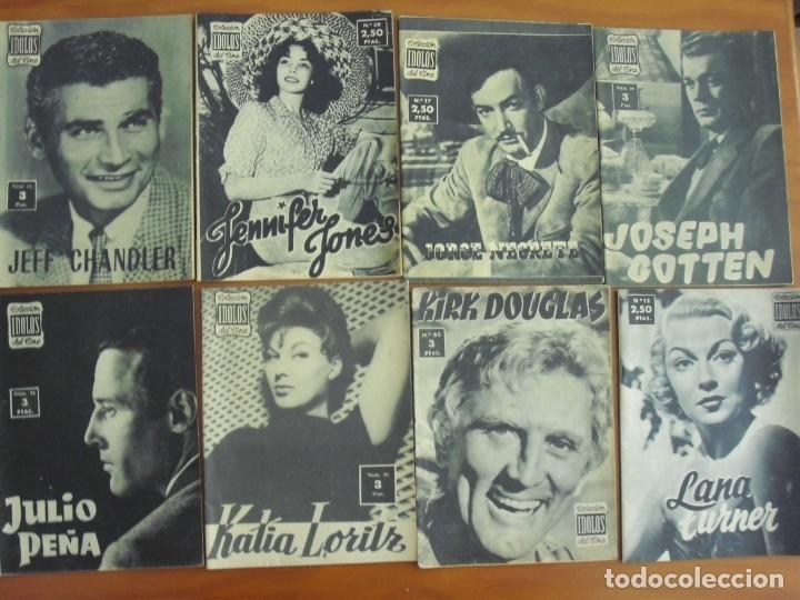 Cine: LOTE DE 70 REVISTAS-TODAS DISTINTAS DE LA COLECCION IDOLOS DEL CINE AÑO 1958 -VER FOTOS - Foto 6 - 175411215