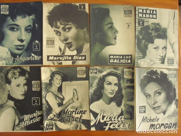 Cine: LOTE DE 70 REVISTAS-TODAS DISTINTAS DE LA COLECCION IDOLOS DEL CINE AÑO 1958 -VER FOTOS - Foto 8 - 175411215