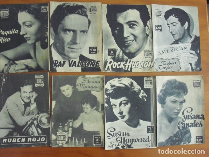 Cine: LOTE DE 70 REVISTAS-TODAS DISTINTAS DE LA COLECCION IDOLOS DEL CINE AÑO 1958 -VER FOTOS - Foto 9 - 175411215