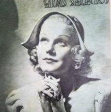 Cine: FILMS SELECTOS 1937 Nº 325 JEAN HARLOW. Lote 175423648