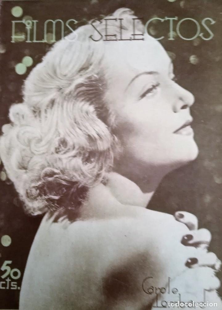 FILMS SELECTOS 1937 Nº 323 CAROL LOMBARD (Cine - Revistas - Films selectos)