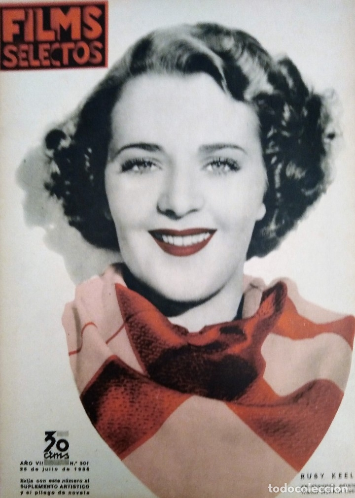 FILMS SELECTOS 1936 Nº 301 RUBY KEELER (Cine - Revistas - Films selectos)