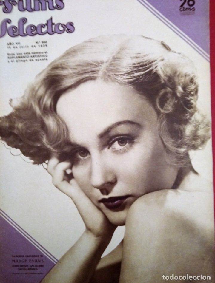 FILMS SELECTOS 1936 Nº 300 MADGE EVANS (Cine - Revistas - Films selectos)