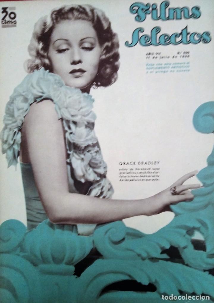 FILMS SELECTOS 1936 Nº 299 GRACE BRADLEY (Cine - Revistas - Films selectos)