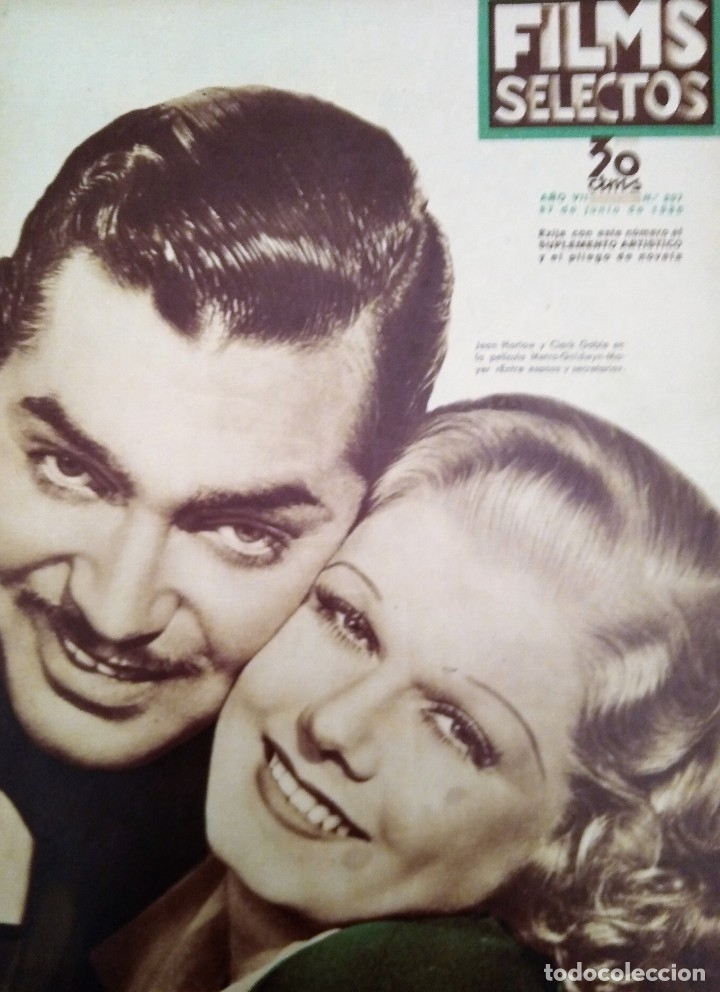 FILMS SELECTOS 1936 Nº 297 CLARK GABLE (Cine - Revistas - Films selectos)