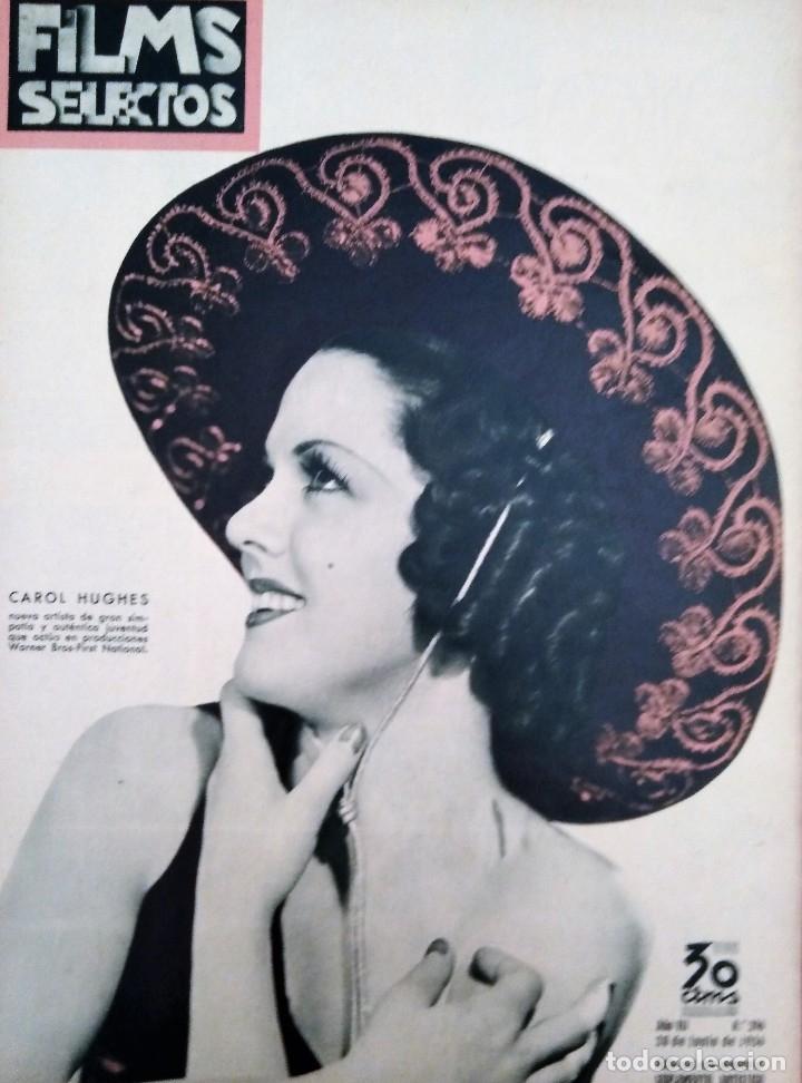 FILMS SELECTOS 1936 Nº 296 CAROL HUGHES (Cine - Revistas - Films selectos)