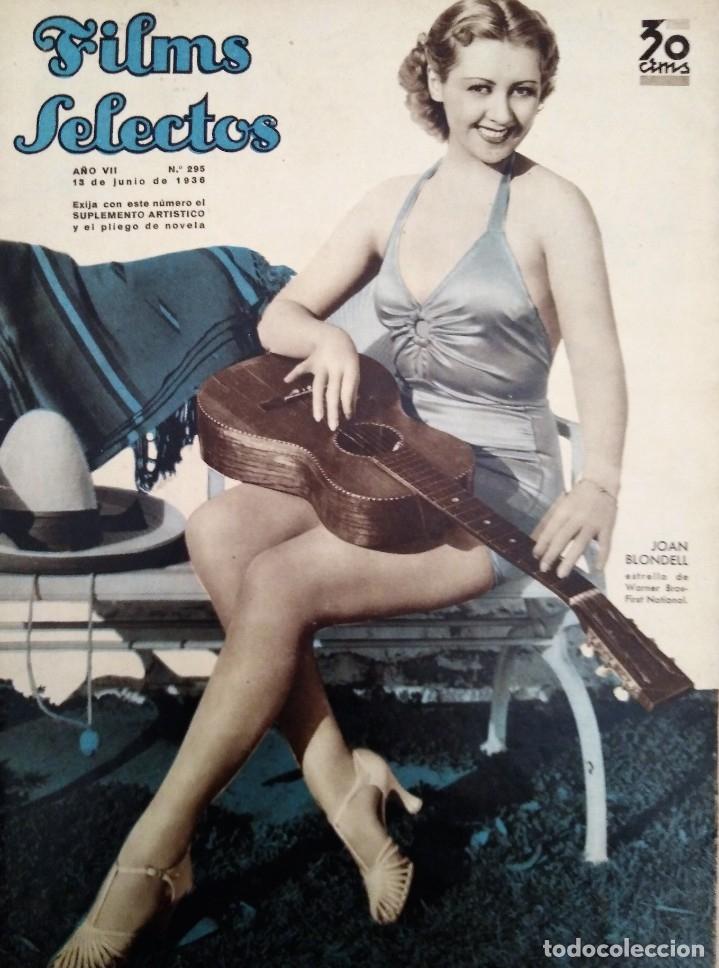 FILMS SELECTOS 1936 Nº 295 JOAN BLONDELL (Cine - Revistas - Films selectos)