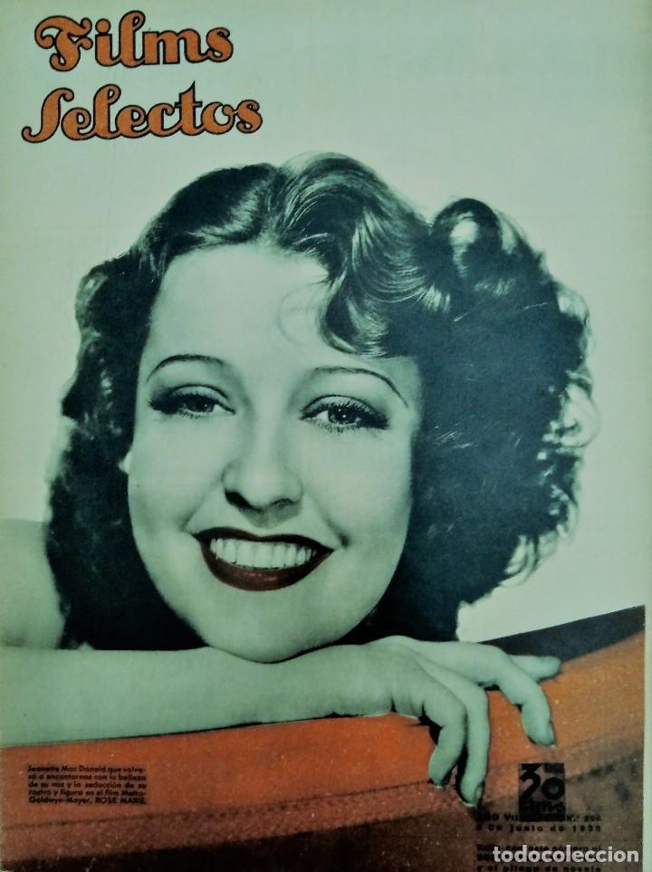 FILMS SELECTOS 1936 Nº 294 JEANETTE MAC DONALD (Cine - Revistas - Films selectos)