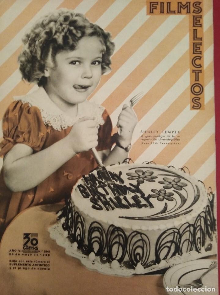 FILMS SELECTOS 1936 Nº 292 SHIRLEY TEMPLE (Cine - Revistas - Films selectos)