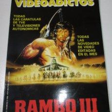 Cine: VIDEOADICTOS Nº 2, CARÁTULAS Y SINOPSIS, FICHAS DE PELÍCULAS, 1989, 170 PÁGINAS. Lote 175451294