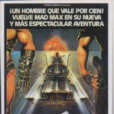Cinema: REPRODUCCION DE CARTEL DE CINE: MAD MAX 2. MEDIDAS 30X21,5 CM. PLASTIFICADO CARTELCI-106. Lote 175495068