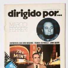 Cine: DIRIGIDO POR... Nº 15 (JULIO / AGOSTO 1974) MARCO FERRERI . Lote 175536915