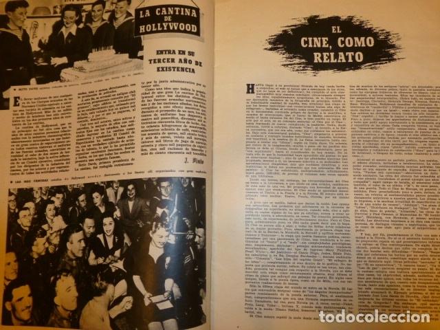 Cine: CAMARA REVISTA QUINCENAR CINEMATOGRAFICA ESPAÑOLA SEPTIEMBRE 1944 ISABELITA GARCES EN PORTADA - Foto 3 - 175860665