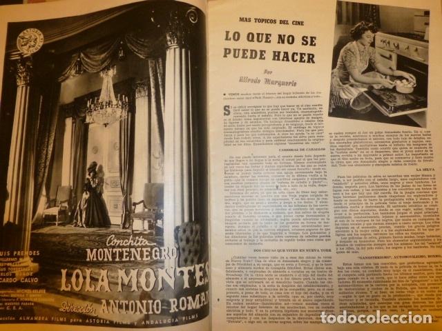Cine: CAMARA REVISTA QUINCENAR CINEMATOGRAFICA ESPAÑOLA SEPTIEMBRE 1944 ISABELITA GARCES EN PORTADA - Foto 4 - 175860665