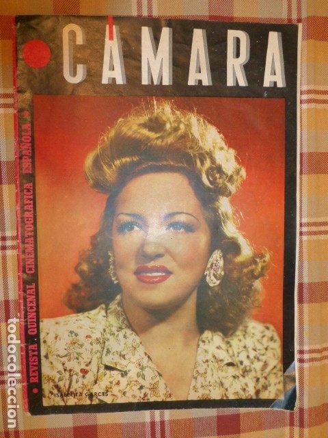 CAMARA REVISTA QUINCENAR CINEMATOGRAFICA ESPAÑOLA SEPTIEMBRE 1944 ISABELITA GARCES EN PORTADA (Cine - Revistas - Cámara)