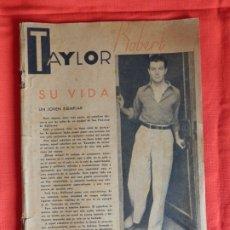 Cine: ROBERT TAYLOR SU VIDA, ESTRELLAS DEL CINEMA, REVISTA 32 PÁGINAS. Lote 175916185